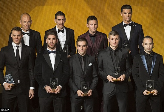 UEFA Rilis Daftar Team of the Year 2015
